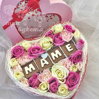 Розы и гвоздики для мамы